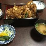 千束いせや - ランチ天丼(980円)に穴子(600円)+はぜ
