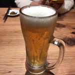 ラー麺 ずんどう屋 - 2017年01月09日  生ビール (アサヒスーパードライ)500円