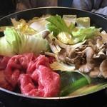 松茸屋魚松 - 肉を投入