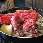 松茸屋魚松 - おかわりの肉投入