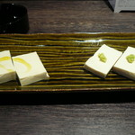 風の北前や  - 豆腐の昆布〆