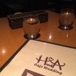 CAFE Wedding H&A - テーブル席にて