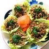 ティーヌン - 料理写真:ヤム・ムー・タクライ(豚ひき肉ハーブ和えレタス包