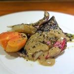前芝料理店 - 炭火で炙った秋刀魚マリネサラダ仕立て