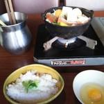 61071641 - 石狩鍋(味噌)と雑炊
