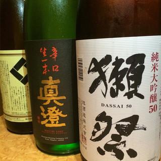 ◆店長厳選の日本酒を60種類以上取り揃えております!◆