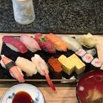 寿司文 - ランチ松にぎり1,000円