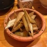 串焼き 猿 - セロリの梅しそ漬け♪