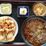 飛騨 - かき揚げ丼セット(そば大盛)