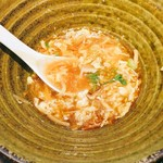 ごまめ家 - 麺にスープや具材がよく絡むので、麺を食べ終えるとほとんどスープもなくなる
