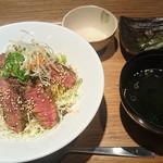 牛串酒場 バールミート - ステーキ丼のセット