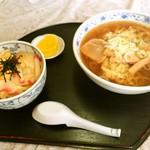 西十和田 - ラーメンと玉子丼のセット