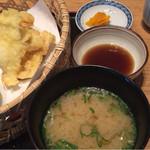 博多もつ鍋 幸 とりもつえん - つぼ漬・味噌汁