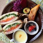 カフェ ポンポネッラ - 料理写真:サンドイッチのプレート
