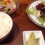 61083437 - 日替わり 鶏から 黒酢あんかけ 900円