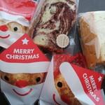 菊みそ加工所 夢工房 - シフォンケーキ、あと、頂いたクリスマスのクッキー