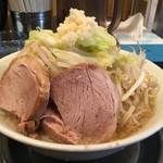 G麺屋 - 山が低くなった マッチョ麺:並盛