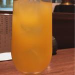 鉄板焼鳥 くちばし - 食後のオレンジジュース
