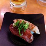 かっぱ寿司 - まぐろ頭肉頬肉二種盛りニンニク醬油~☆
