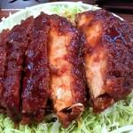 キッチンフライパン - チキンソースカツ丼