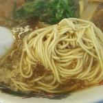 来来亭 - ラーメンの麺の状態(2017.01.10)