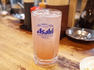 立飲み たきおか - ピンクサワー(350円)