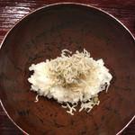 米増 - しめしめ(^^;;追加の山椒ちりめんご飯(^^;;       お椀が素敵すぎ*\(^o^)/*