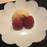 米増 - 2016.12       デザート、柿アイス、イチゴ