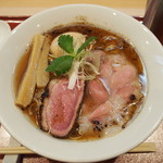 燃えよ 麺助 - 味玉紀州鴨そば