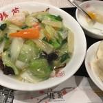 梅蘭 - 海鮮あんかけ焼きそば セット950円