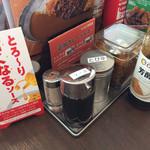 カレーハウス CoCo壱番屋 - 調味料たち