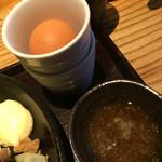 佐五右衛門 - 欲張り2種の唐揚げ定食670円+生卵
