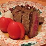 まる作 - 牛ヘレ肉 生姜タレ