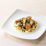 ベーカリーレストランサンマルク - 白身魚と帆立貝のグリルたっぷりきのこクリームソース
