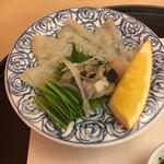 やま中・本店 鮨と日本料理  - ふく刺し