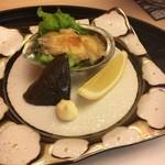 やま中・本店 鮨と日本料理  - アワビステーキ