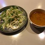 61119032 - スープ&サラダ ※あいがけカレーライスに付いてます