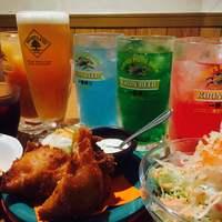 名物チキンとピザの店 ロケットキッチン - ロケットチキンはお酒にとても合います!