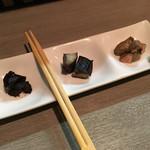 山の底 - 燻製(牡蠣&鯖&鶏肝)
