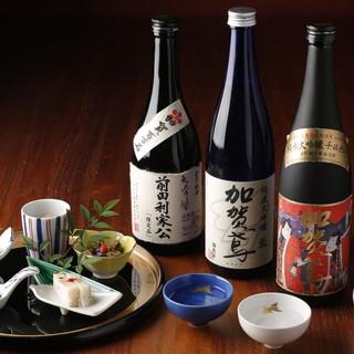 酒蔵より直送される金沢5蔵の日本酒が勢ぞろい!