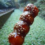 丸岩安藤わさび店 - 料理写真:わさびじょうゆ串だんご