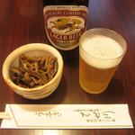 はせ川 - ビールと肝の佃煮