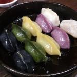 61133752 - ・「健康五色」鉱泉餃子 680円