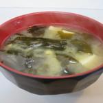 はちのこ食堂 - わかめと豆腐の味噌汁