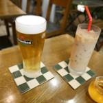 ケンウェスト - 2016/11/19  ハイネケン生ビールとミルクティー