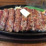1ポンドのステーキハンバーグタケル - ランプステーキ250グラム。脂身の少ない柔らかいお肉です。