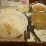 ひょうたん - ランチのグリーンカレー750円