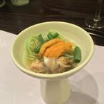 お料理 七草 - 魚ソーメン ウニ つぶ貝