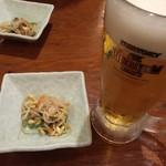 居酒屋 遊心 - 寒くても生ビールから!