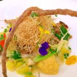 カフェボンフィーノ - 真鯛の蒸し焼きポワローバターソース